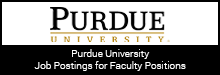 Purdue University Job Postings for Faculty Positions